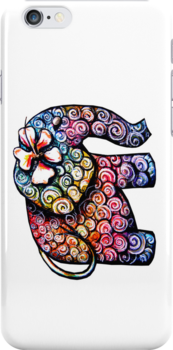 tattoo elephant iPhone Case by © Karin (Cassidy) Taylor