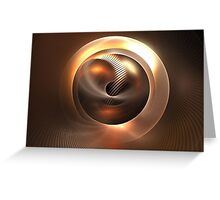Copper Orb Greeting Card