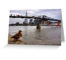 A duck's view of the London Thames, London Greeting Card