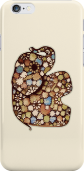Patchwork Elephant iPhone Case by © Karin Taylor