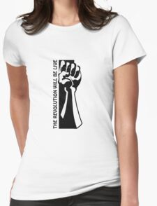 Revolution Fist Womens Fitted T-Shirt