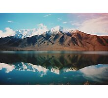 New Zealand mountain landscape with authentic light leak Photographic Print