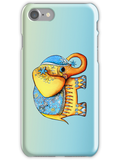 The Littlest Elephant iPhone Case by © Karin Taylor