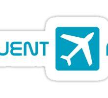blue frequent flyer Sticker