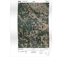 USGS Topo Map Washington State WA Napavine 20110405 TM Poster