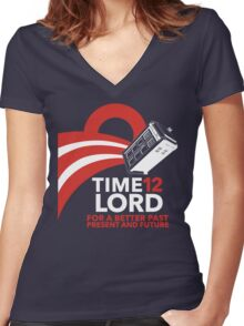 Timelord 2012 (Shirt) Women's Fitted V-Neck T-Shirt