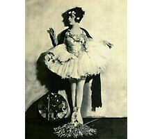 Vintage Ballet Dancer photo Photographic Print