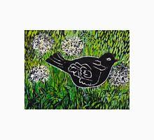 Blackbird amongst Dandelion Clocks Classic T-Shirt