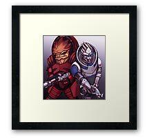 Wrex and Garrus Framed Print