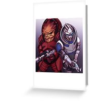 Wrex and Garrus Greeting Card