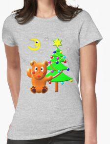 Teddy Bear and his Christmas Tree-shirt T-Shirt