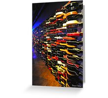 The Guitar Wall Greeting Card