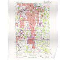 USGS Topo Map Washington State WA Tacoma South 244170 1961 24000 Poster