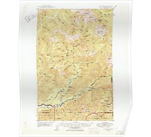 USGS Topo Map Washington State mount christie wa histmap Poster