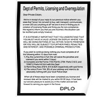 dept of overregulation letter t Poster