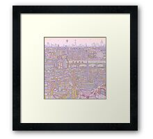 THE MEGATROPOLIS (warm hues) Framed Print