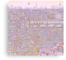 THE MEGATROPOLIS (warm hues) Canvas Print