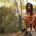 naked girl in the woods by MarsFotografo