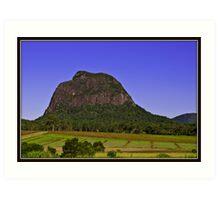 Glasshouse Mountains Art Print
