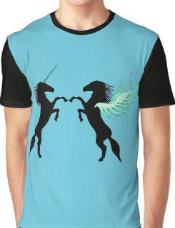 Unicorn vs. Pegasus Graphic T-Shirt