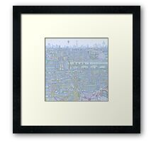 THE MEGATROPOLIS (cool hues) Framed Print