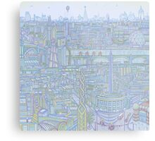 THE MEGATROPOLIS (cool hues) Metal Print