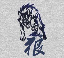 Wolf tribal tattoo Kids Clothes