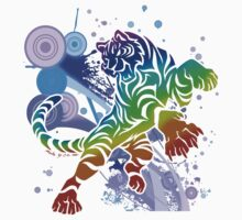 Rainbow tiger by jccat