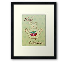 Flashy festive bear Framed Print