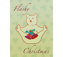 Flashy festive bear Photographic Print