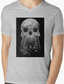 Astronaut Skull Mens V-Neck T-Shirt