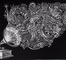 Gramophone bigger I by katacharin