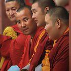 Buddhist Monks by GayeL Art