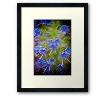 Flowerscapes - Dreamy Blue Framed Print