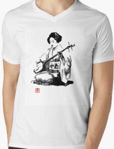 shamisen Mens V-Neck T-Shirt