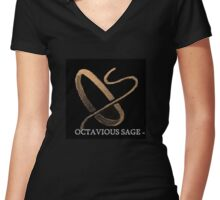 OS By Design Women's Fitted V-Neck T-Shirt