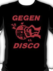 Gegen Disco (red print) T-Shirt