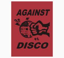 Against Disco (black + red) Sticker by Bela-Manson