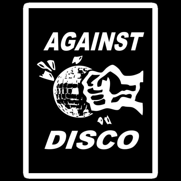Against Disco (white + black) Sticker by Bela-Manson