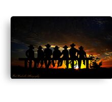 Sunset cowboys Canvas Print