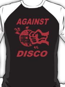 Against Disco (red print) T-Shirt