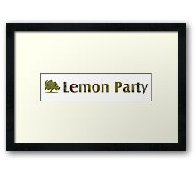 Lemon Party Logo Framed Print