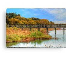 Pier Through The Wetlands Canvas Print