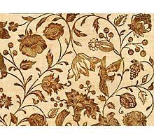 Vintage Floral Pattern Photographic Print