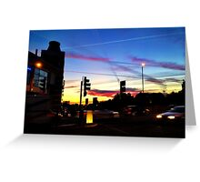 London super sky at dusk... Greeting Card