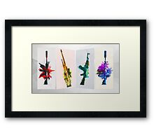 CS:GO Colorful Weapons Framed Print