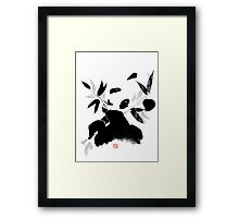 panda lunch Framed Print