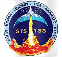 STS-133 Original Crew Mission Patch Poster