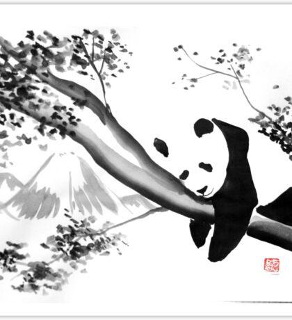 panda sleeping in the tree Sticker