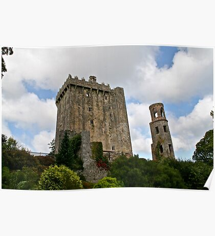 Blarney Castle and the Keepers Watch Tower, County Cork, Ireland Poster